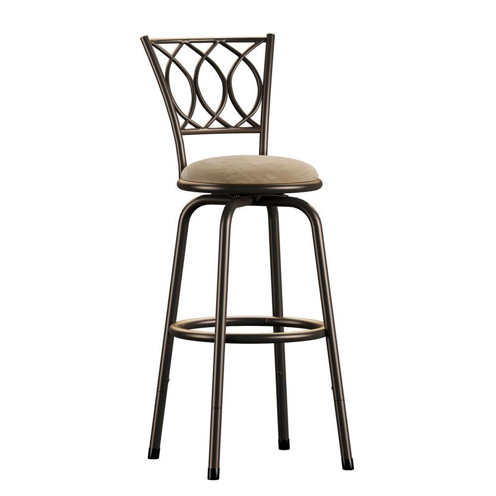 Magnificent Topline Furniture Aileen 24 In 29 In Brown Adjustable Bar Creativecarmelina Interior Chair Design Creativecarmelinacom