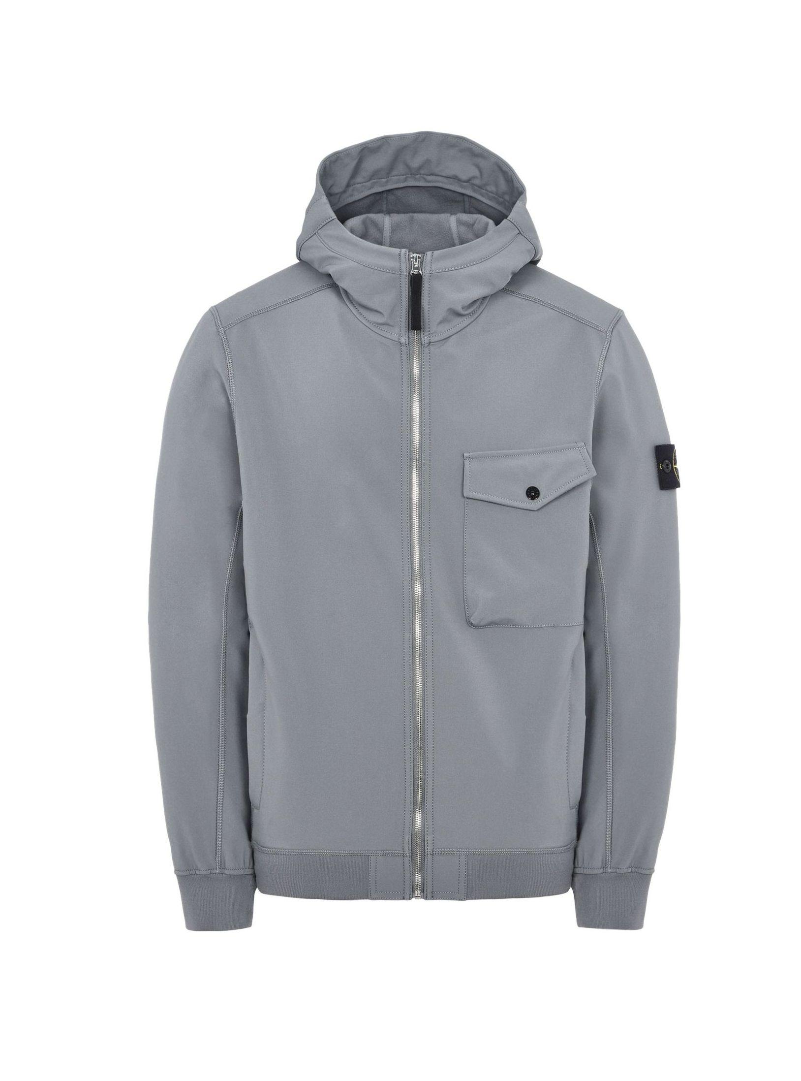 1d60c21661 Felpa Stone Island soft shell r grigio jersey 6715q0622 v0060 fw 17 ...