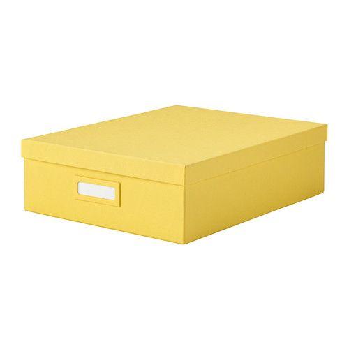 IKEA - TJENA, Lokerikko, keltainen, , Helpottaa työpöydän tarvikkeiden, meikkien, hiuspinnien jne. järjestämistä.Etikettipidikkeiden ansiosta laatikot on helppo merkitä ja tavarat löytyvät nopeasti.