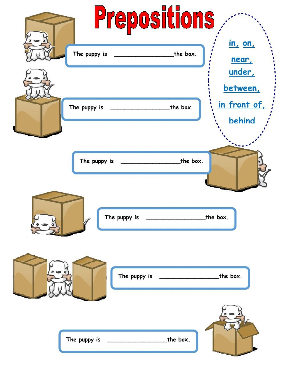 Worksheets Prepositions Worksheets prepositions of place interactive and downloadable worksheet check your answers online or send them to