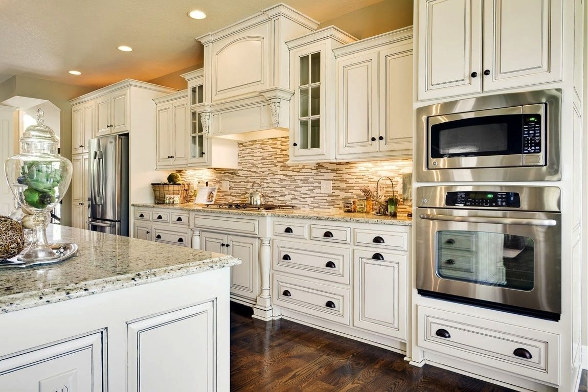 Kitchen Cabinets Oven Space Antique White Kitchen White Kitchen Traditional Antique White Kitchen Cabinets
