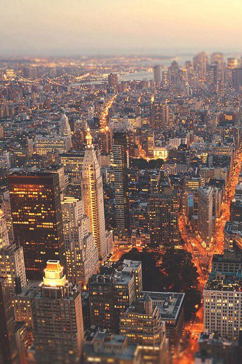 Manhattan at sundown.
