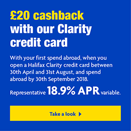 Get 20 With Your First Spend Abroad When You Open A Halifax