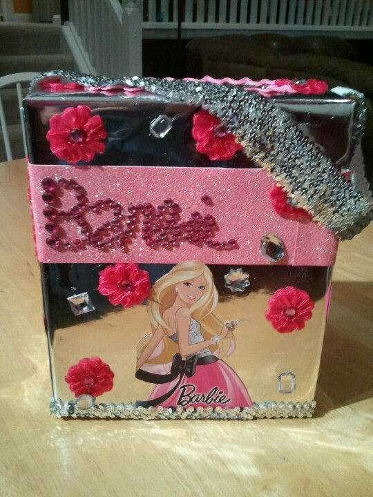 Homemade Barbie valentines box for my 5 yr old daughter ...
