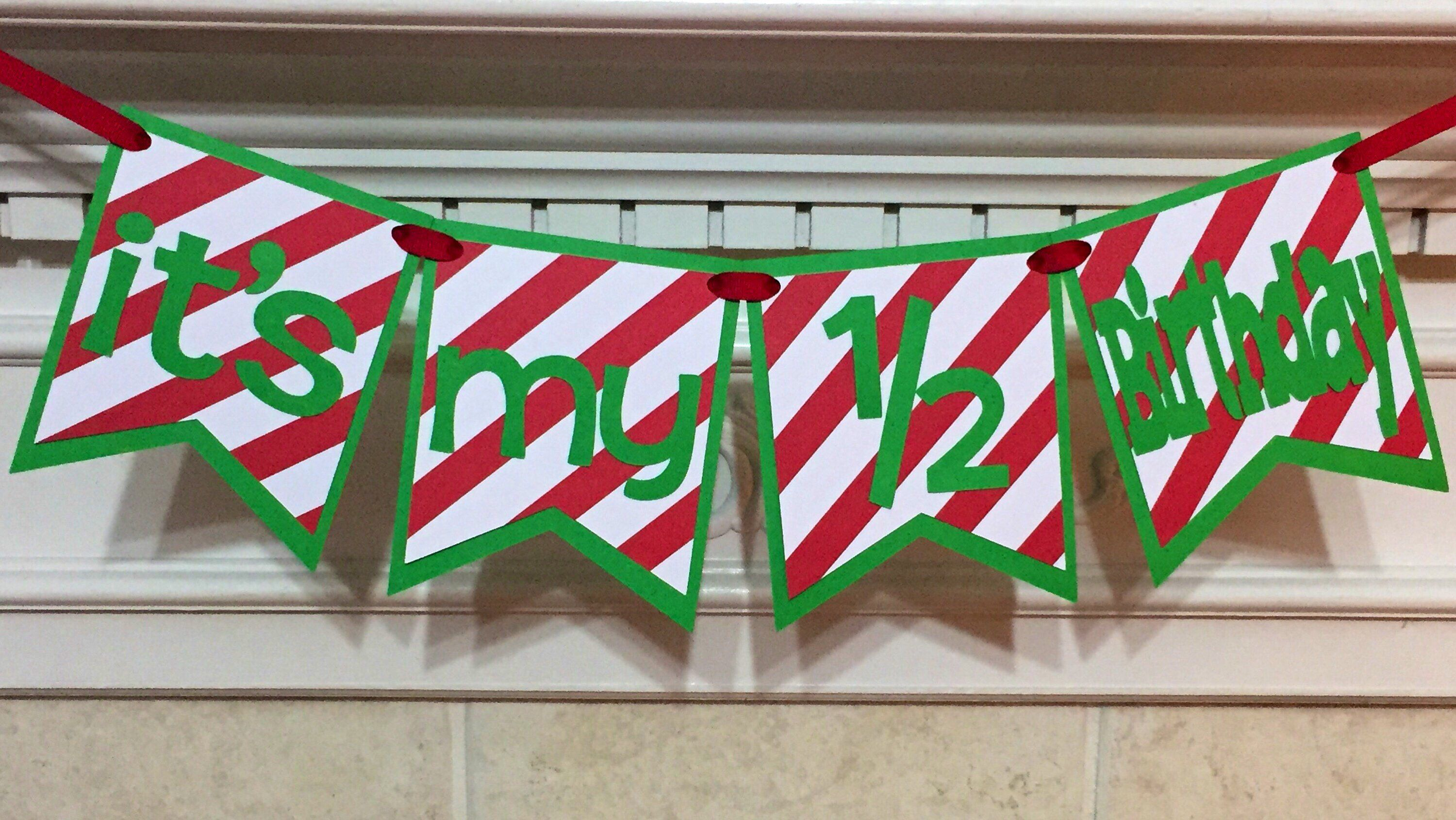 Excited To Share This Item From My Etsy Shop Its 1 2 Birthday Banner Half Boy Decorations Photo Prop