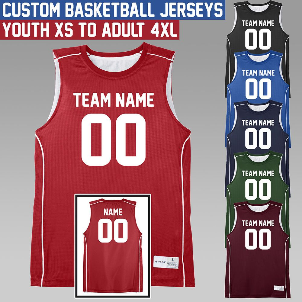 Details About Custom Basketball Jersey Youth To Adult Four Colors Available Personalize Custom Basketball Basketball Jersey Basketball