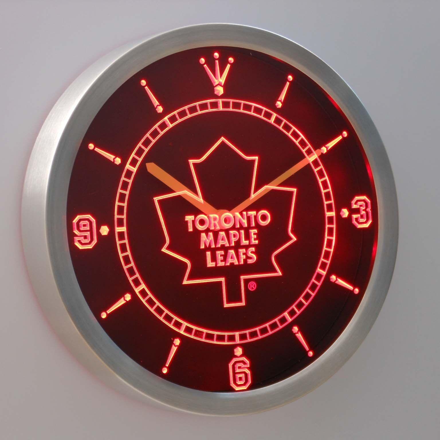 Toronto Maple Leafs Led Neon Wall Clock Toronto Maple Leafs