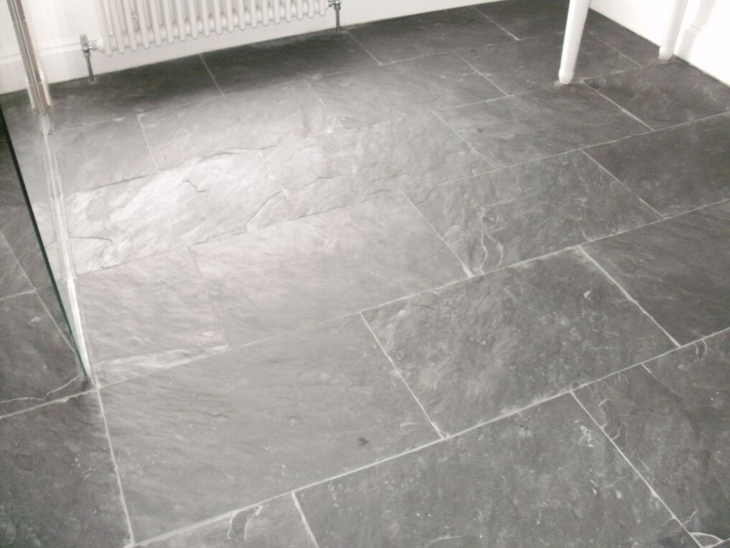 What to do if your floor tiles always look dirty wet for Slate wet room