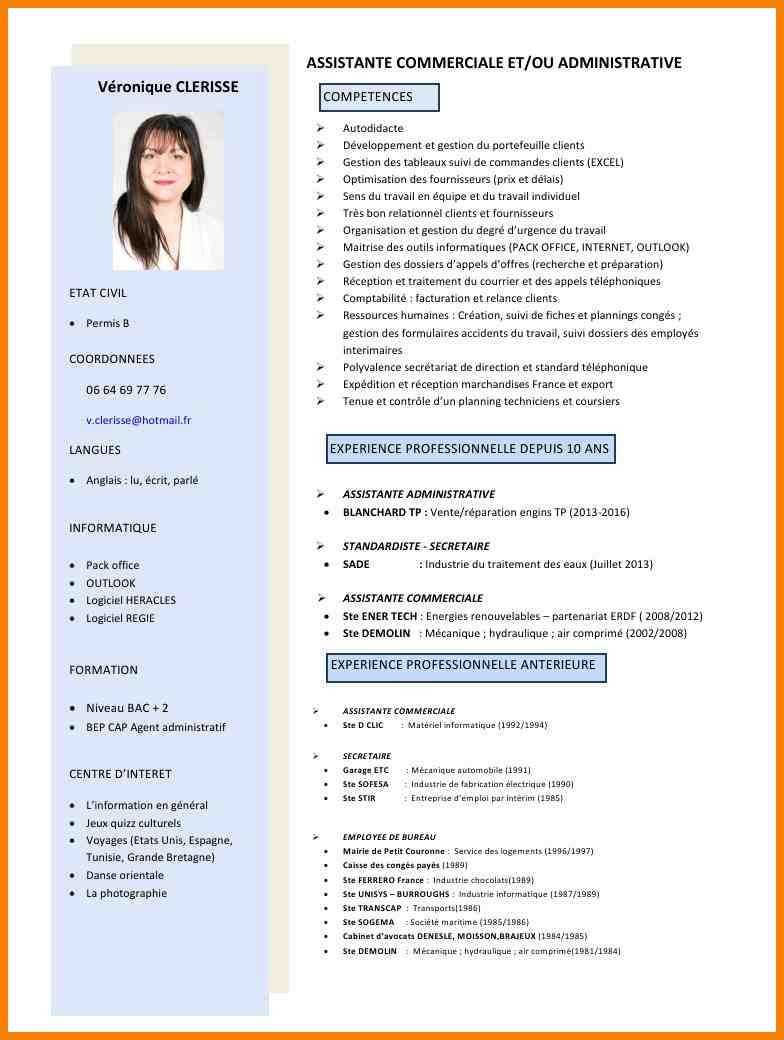 centre d'interet cv secretaire