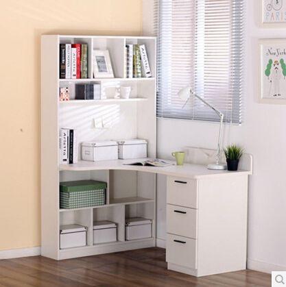 Corner Computer Desk Writing Bookcase Combination Of Simple Combo Decorating Pinterest Bookshelves Ikea And Desks