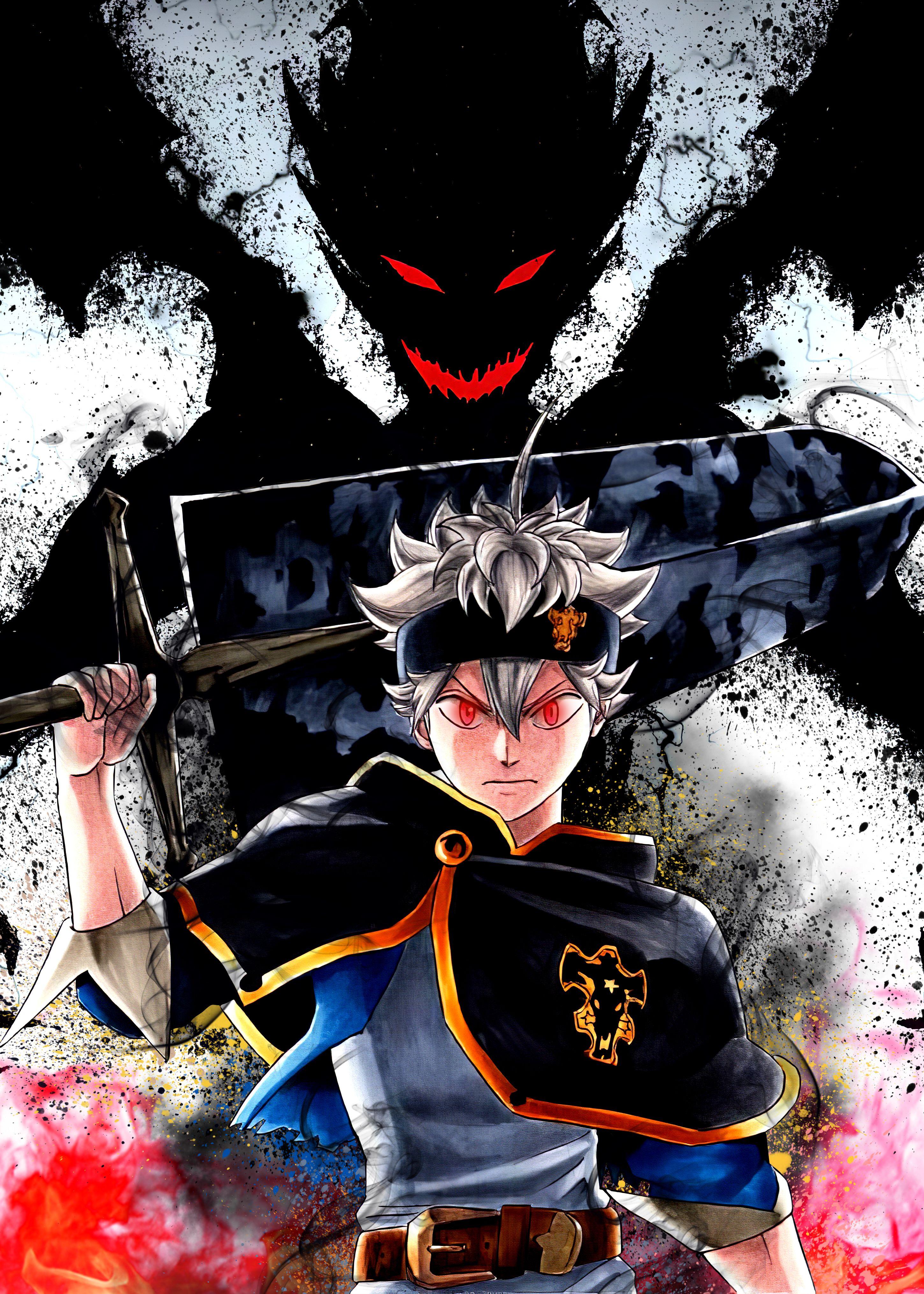 39 Black Clover Asta Metal Poster Black Clover Manga Black Clover Anime Black Anime Characters