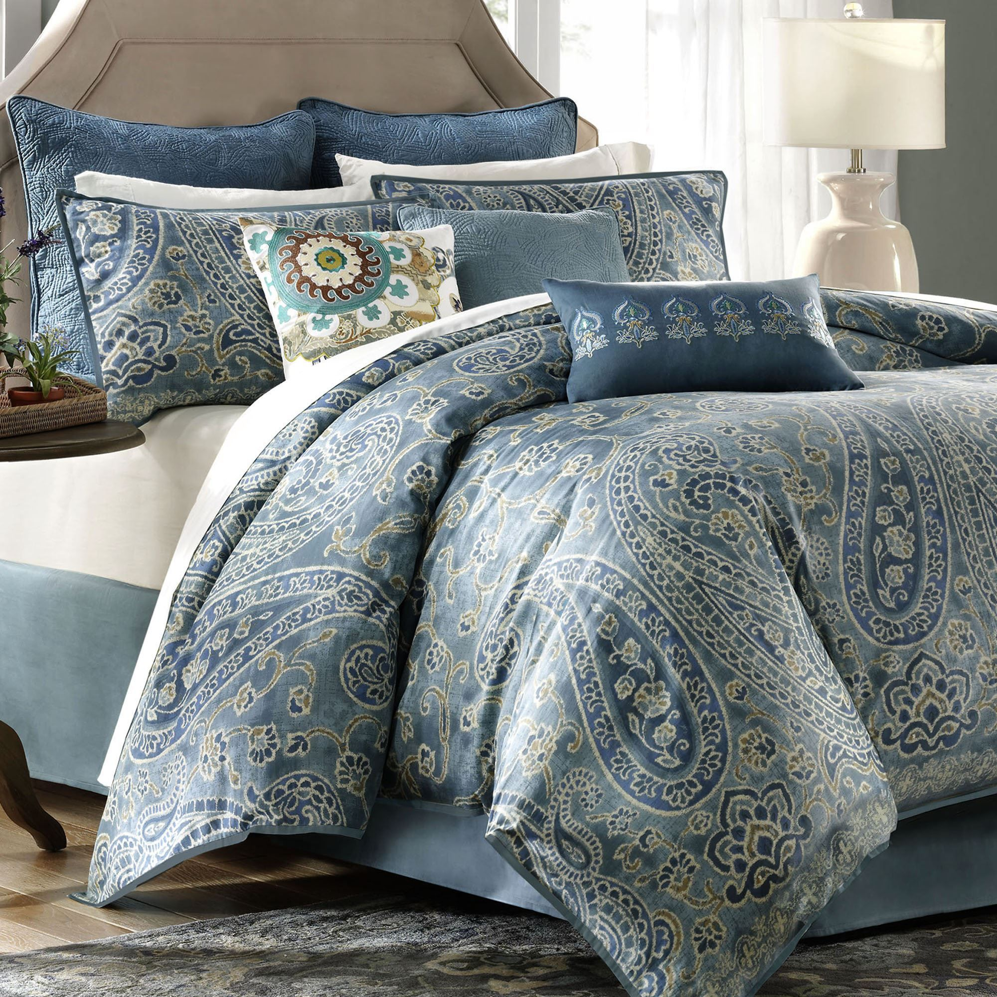 Blue Paisley Bedding Yahoo Image Search Results Bedding Sets Paisley Bedding Leather Bed