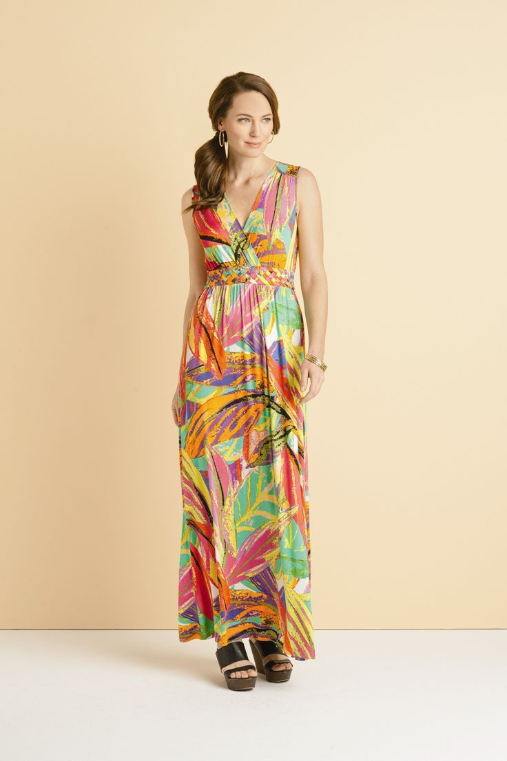 d68795a78657 Tropical #style maxi dress #SteinMart | spring and summer clothes ...
