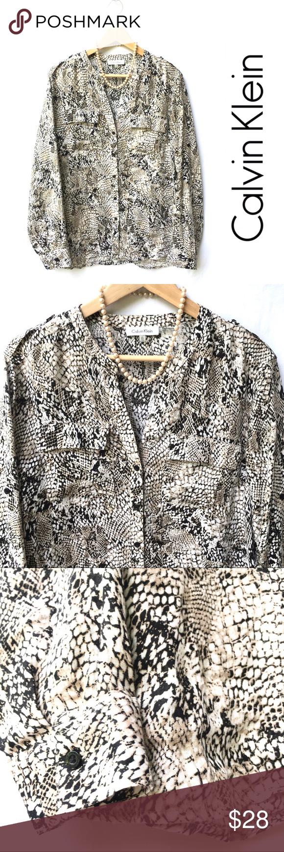 Calvin Klein Linen Blouse Fashion Clothes Design Linen Blouse