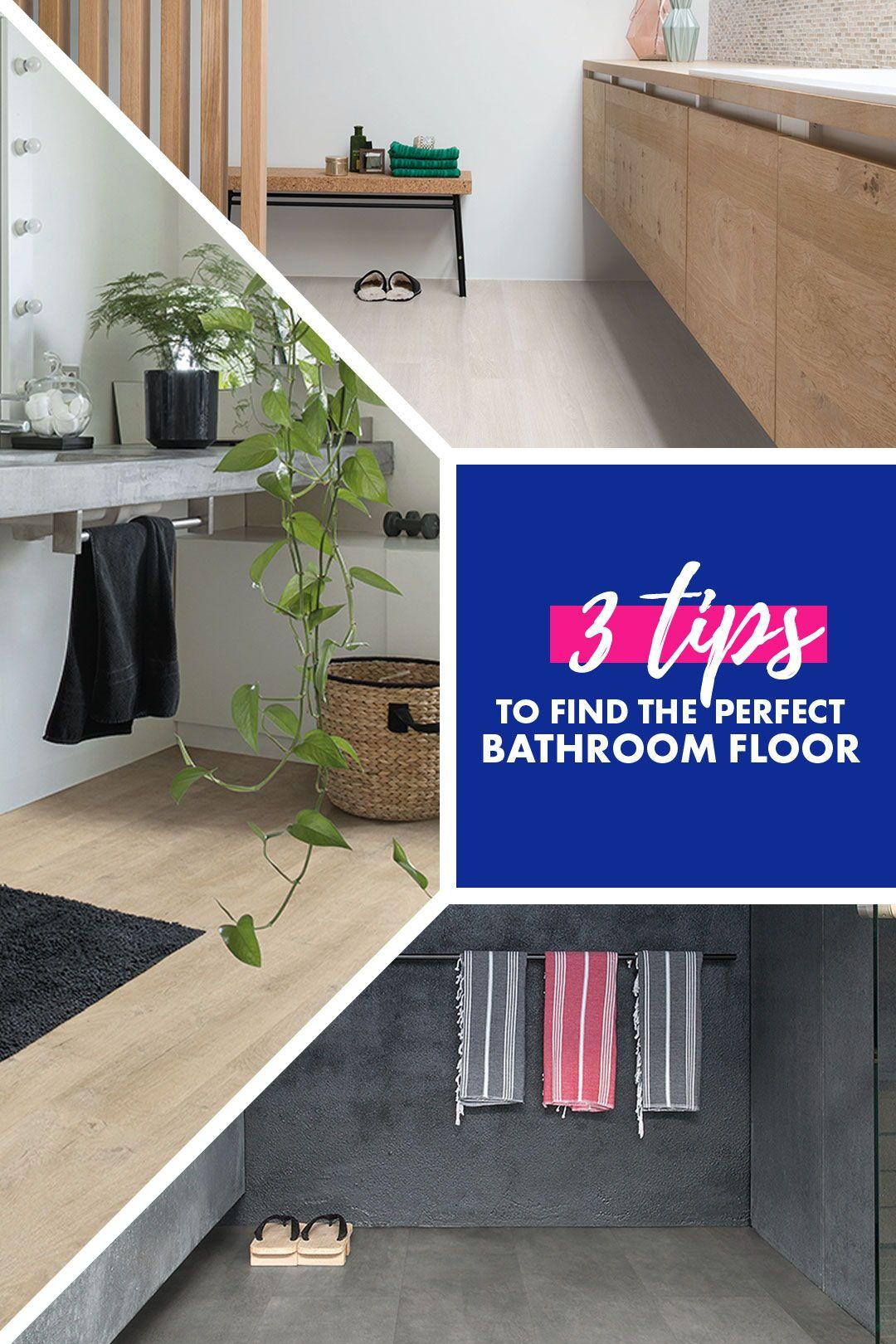 Choose The Perfect Bathroom Floor Bathroom Flooring Flooring Waterproof Bathroom Flooring