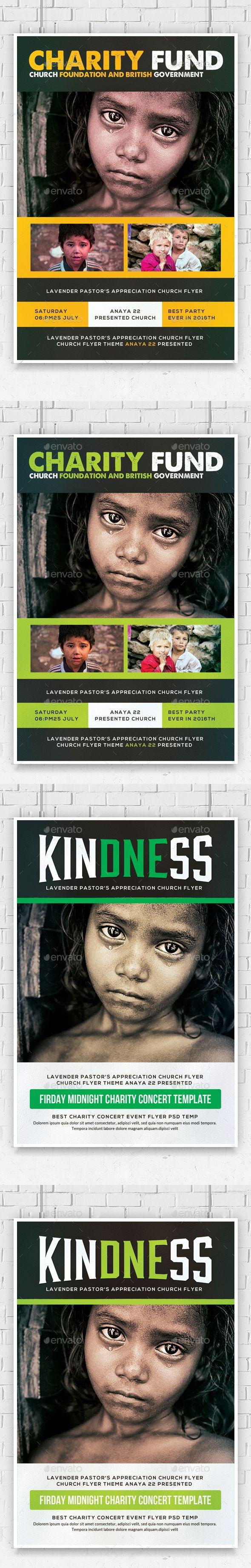 Charity Donation Flyers Bundle | Pinterest | Flyer template, Fonts ...
