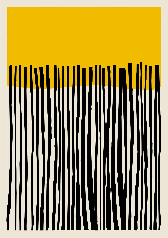 Minimalist Modern Geometric Abstract Wall Art Print Mondrian Style Yellow Art Stylish Home Print Mondrian Prin Geometric Art Yellow Art Abstract Wall Decor