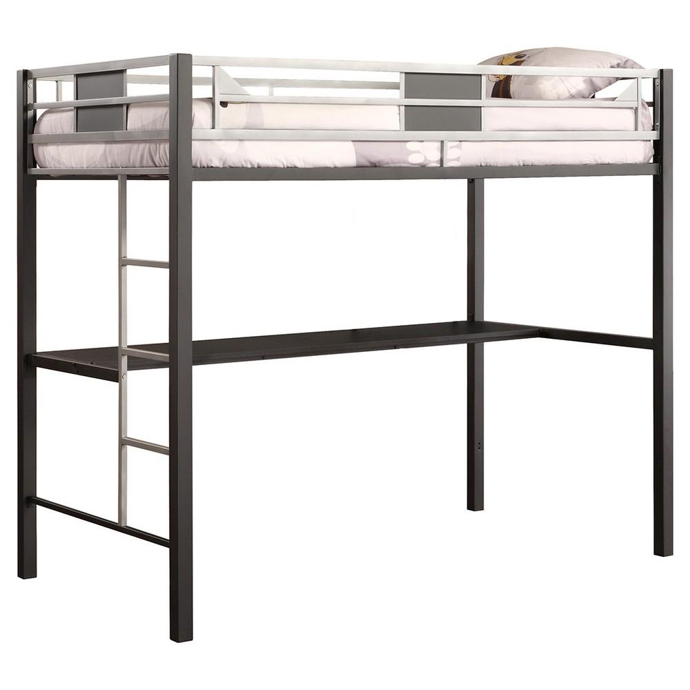 Kids low loft bed  Silver Screen Metal Loft Bunk Bed  Twin  BlackSilver Dhp  Loft