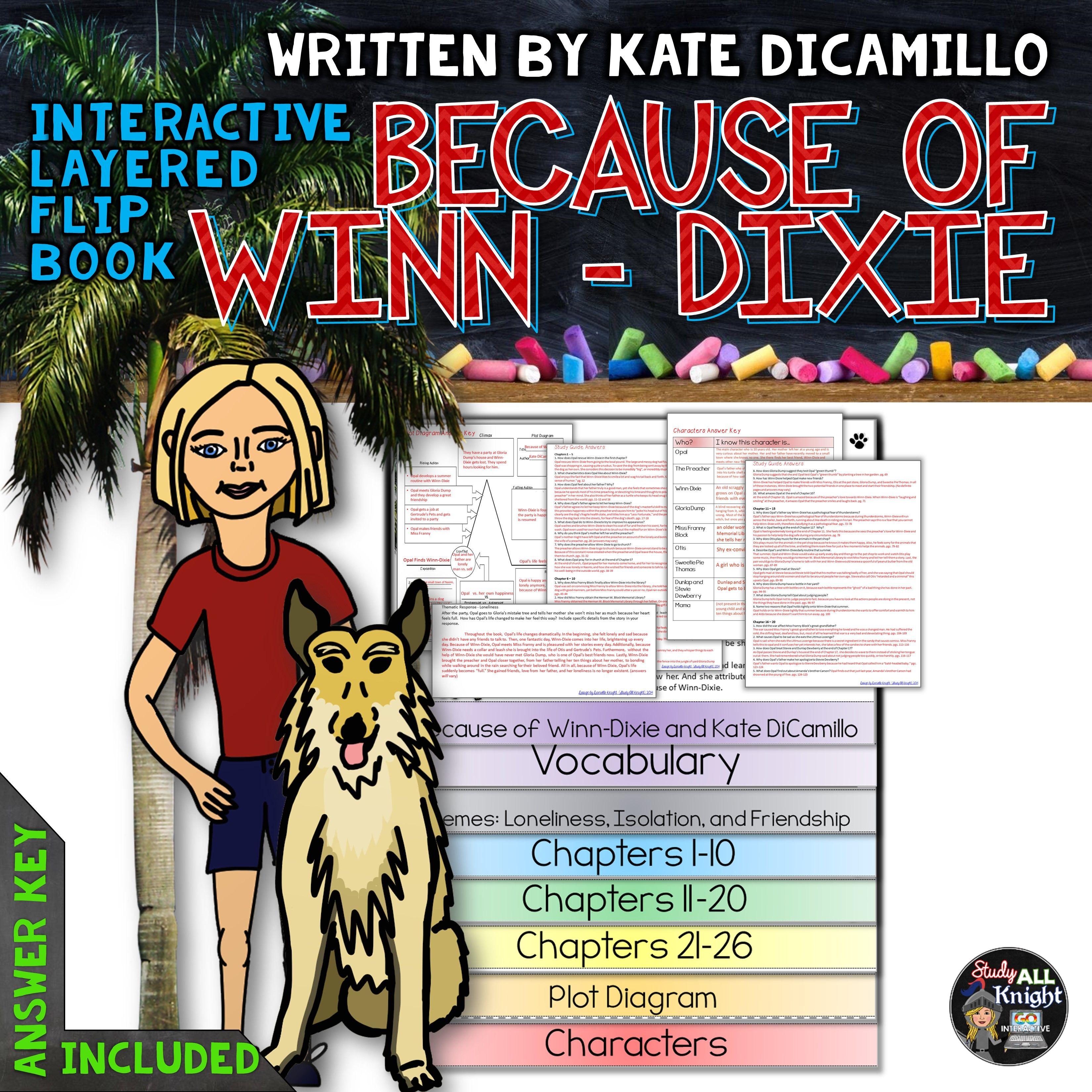 BECAUSE OF WINN-DIXIE: INTERACTIVE LAYERED FLIP BOOK LITERATURE GUIDE ($)