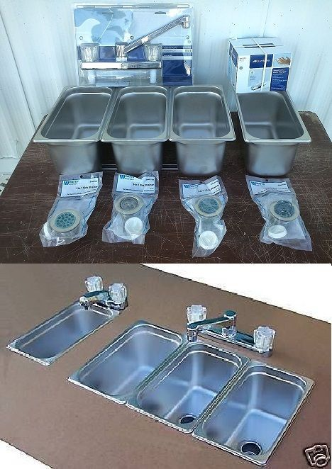 3 Compartment Sink For A Small Food Trailer Food Truck Coffee Trailer Food Cart