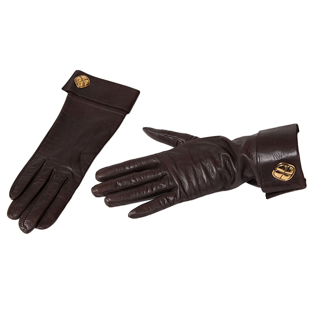Chanel Leather Gloves | From a collection of rare vintage gloves at https://www.1stdibs.com/fashion/accessories/gloves/