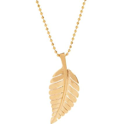 Jennifer meyer leaf pendant necklace leaf pendant leaves and jennifer meyer leaf pendant necklace aloadofball Image collections
