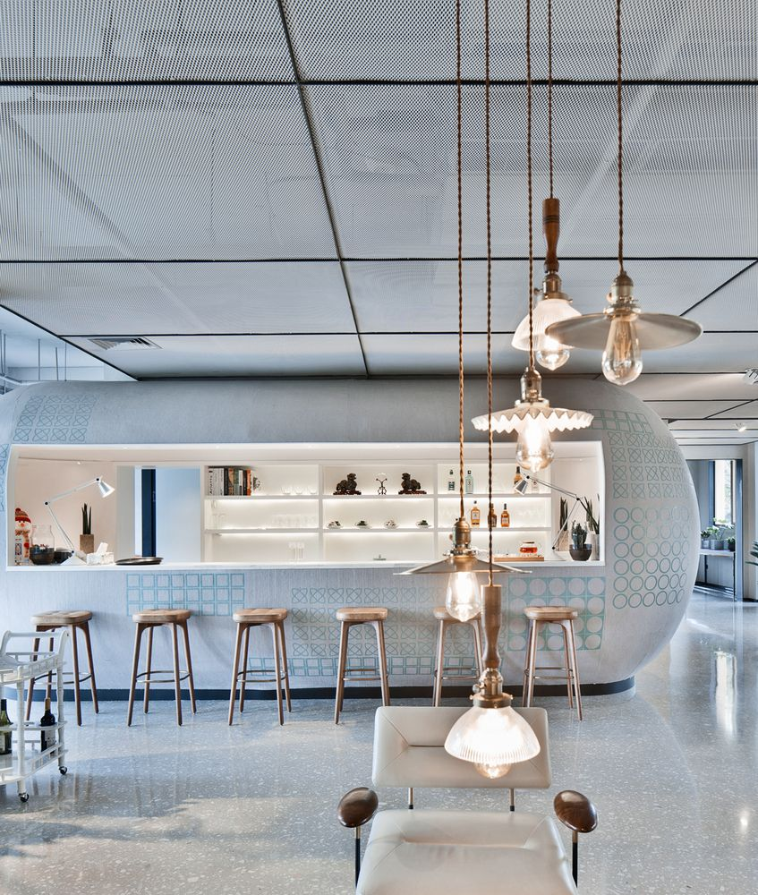 Gallery Of Liuxiang Garden Life Experience Pavilion Gad 3 Bar Restaurant Interior Bistro Design Cafe Design