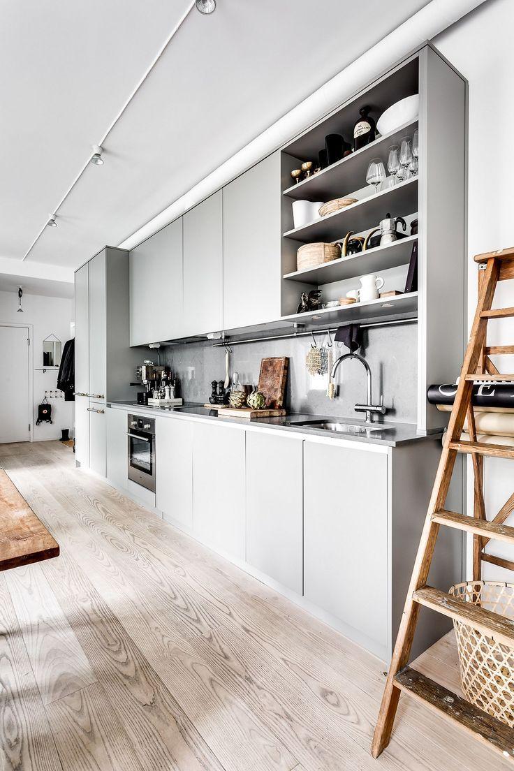 50+ Elegant Modern White Kitchen Ideas For Excellent Home #greykitchendesigns