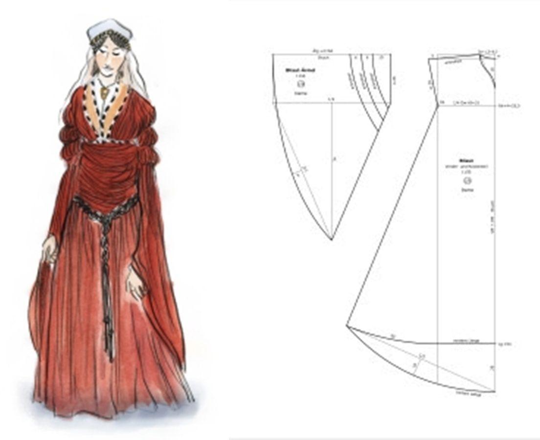 1150 Dame Bliaut | Sewing | Pinterest | Mittelalter, Kostüm und ...