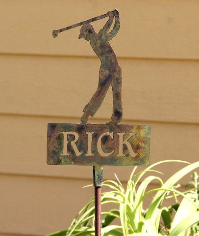 Outdoor Golf Decor: Golf Lawn Ornament: Golf Decoration