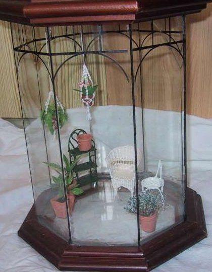 miniature drivhus før arbejdet