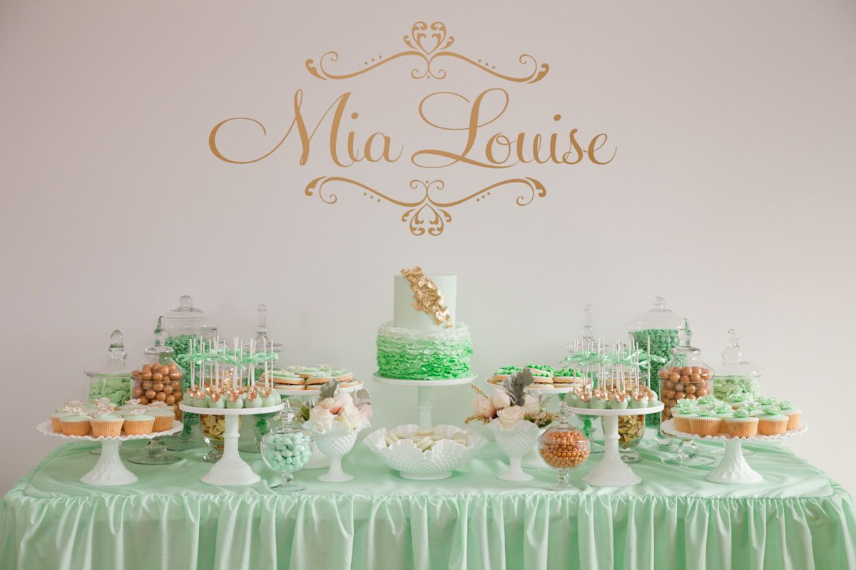 Christening Party by Little Sooti | Mint gold, Elegant and ...