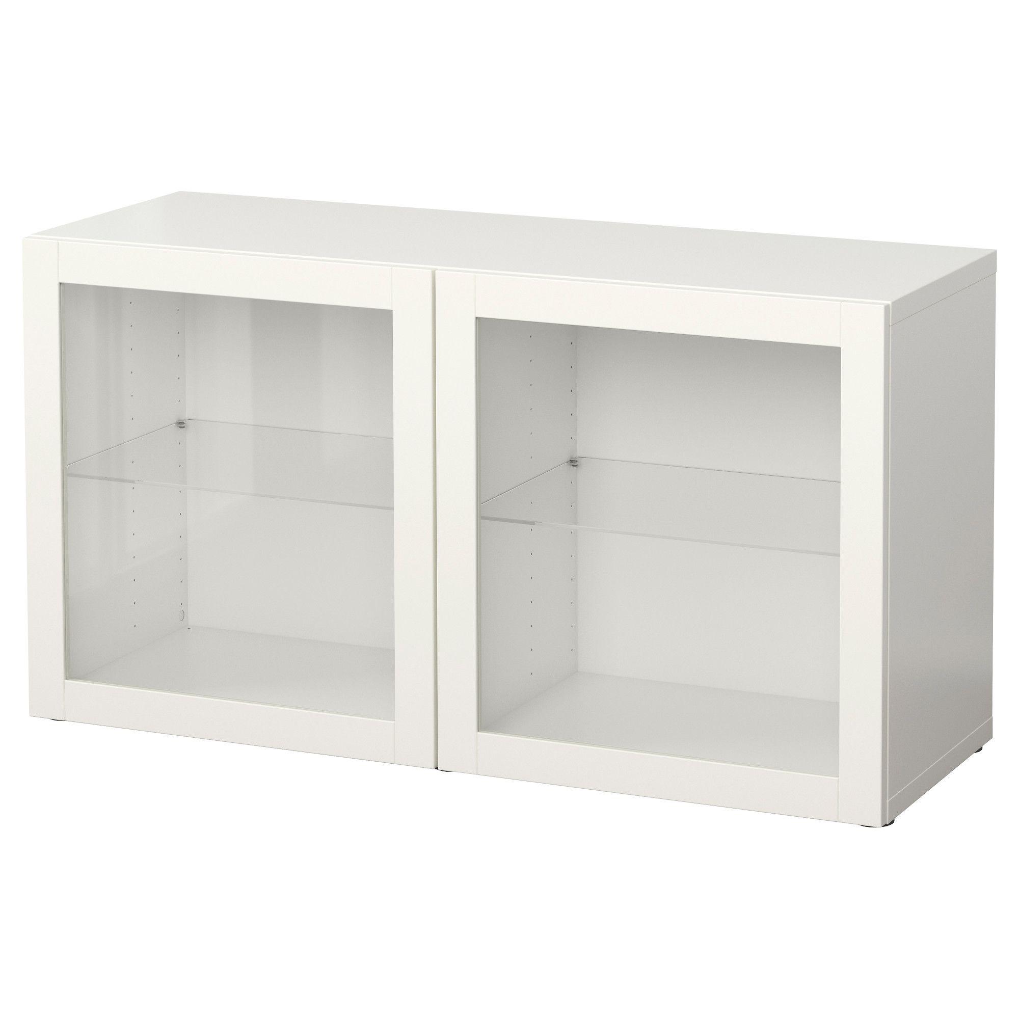 Besta Shelf Unit With Glass Doors Sindvik White 47 1 4x15 3 4x25