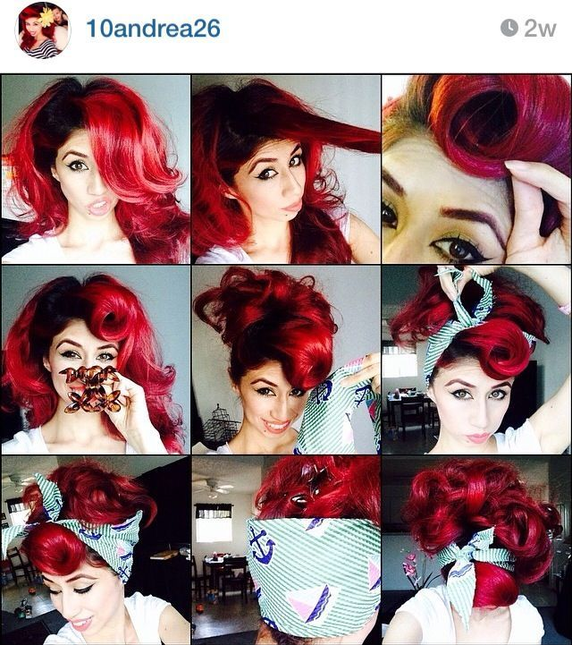 Pin On Pin Up Girl Hairstyles