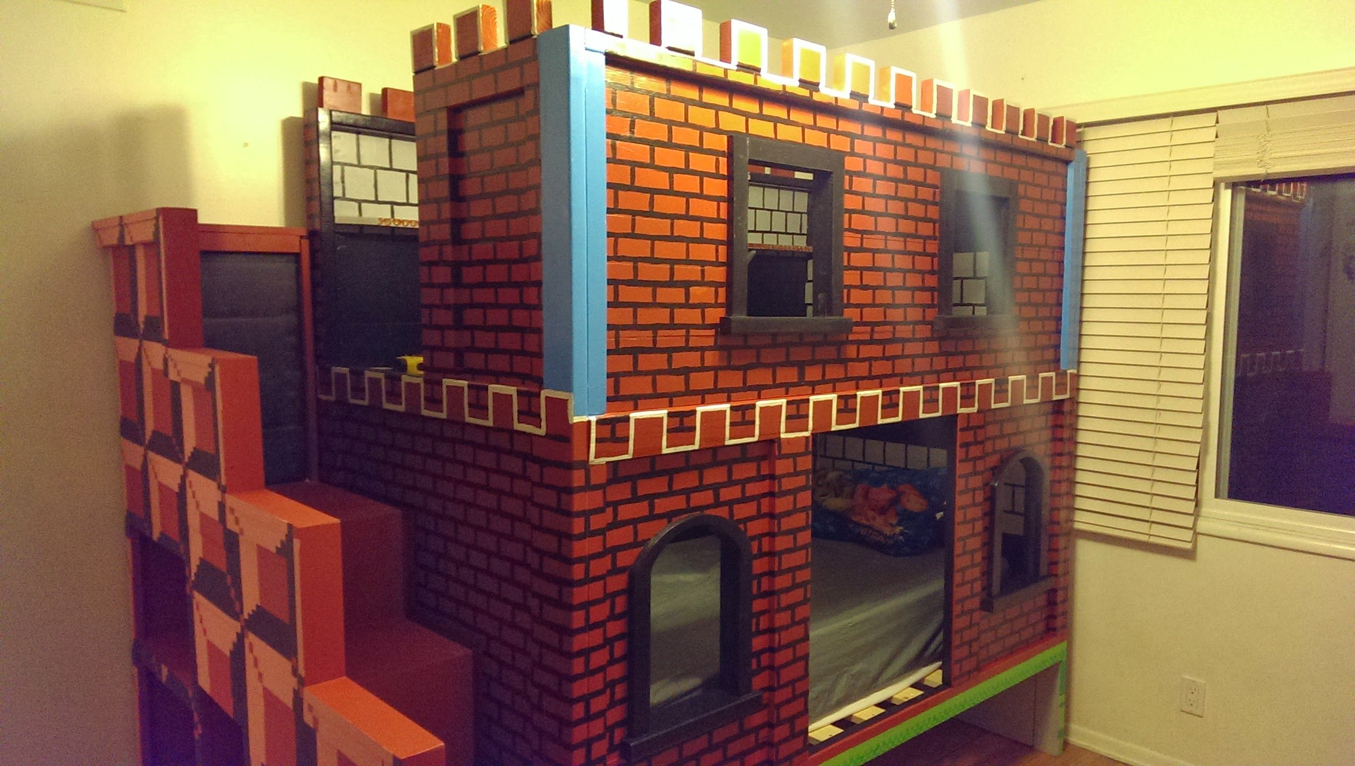 Ana White Mario Castle Bunk DIY Projects (With images
