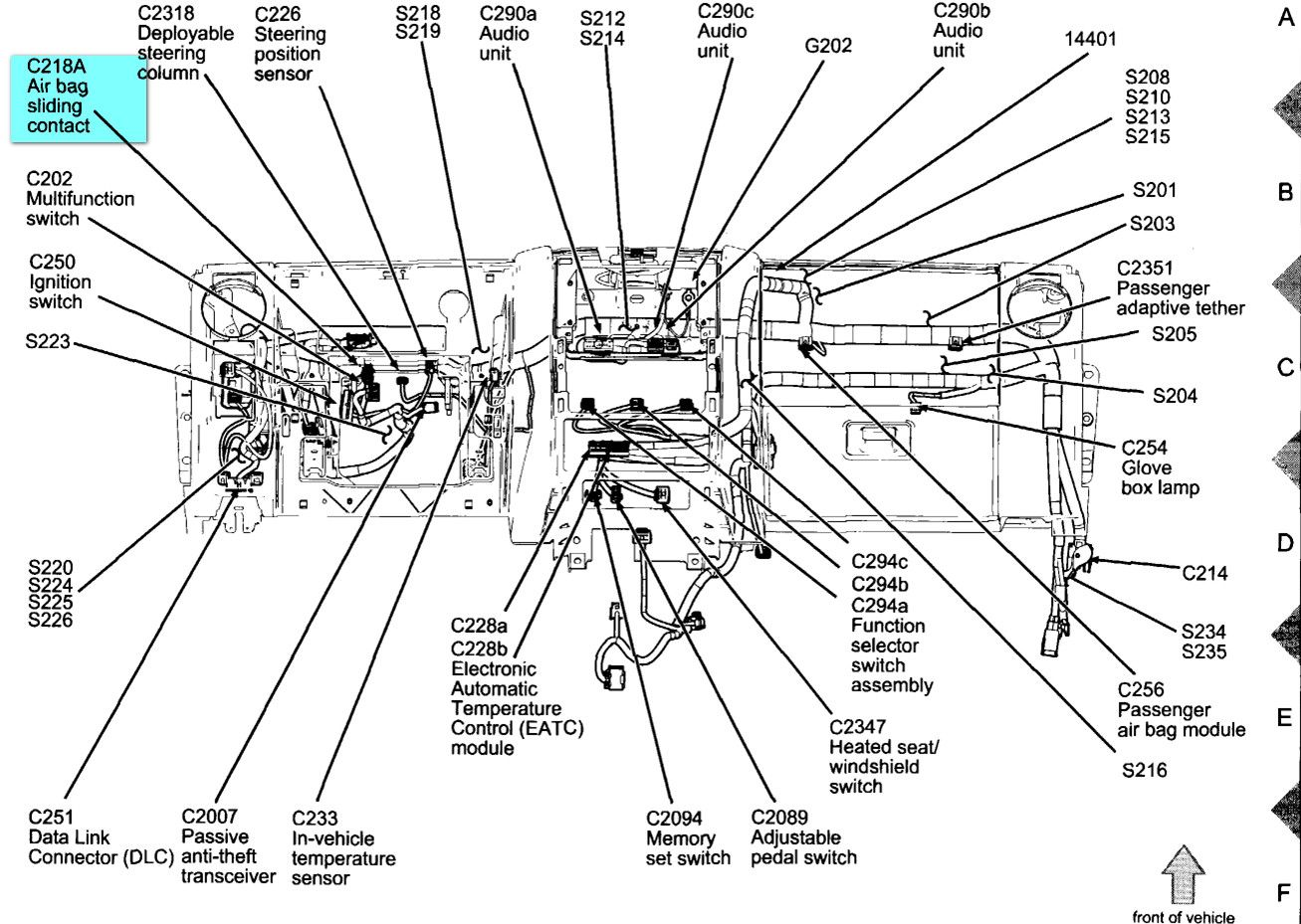 2004 ford explorer interior parts diagram