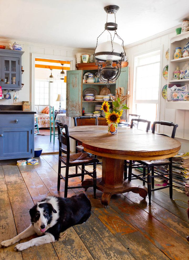 Eclectic Dining Room Gorgeous Eclectic Farm House  Eclectic  Dining Room  New York  Rikki Design Ideas