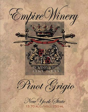 Wine Label Art Print Of Empire Winery By Ralph Burch Pinot Grigio Vintage Poster Wine Label Art Vintage Art Prints Wine Label Vintage
