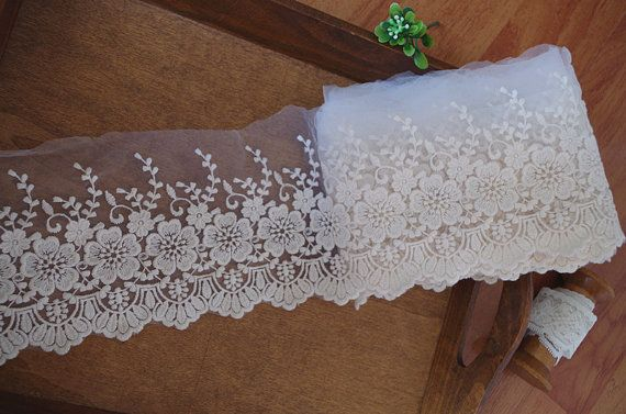 cotton embroidered lace trim