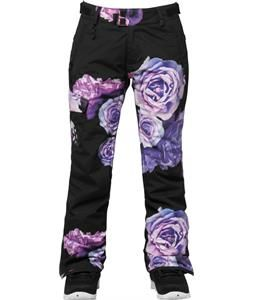 686 Authentic Misty Insulated Snowboard Pants Black Rose