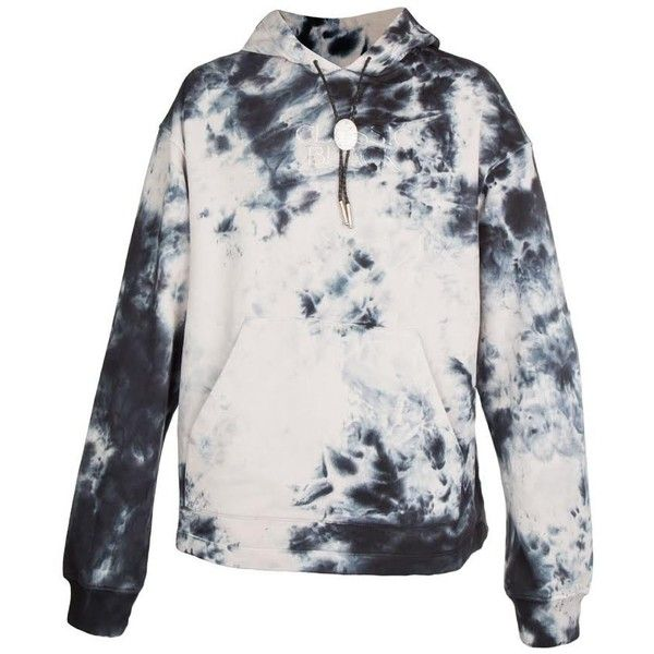 Alexander Wang Classic Black Tie Dye Hood (White) ❤ liked on Polyvore  featuring tops
