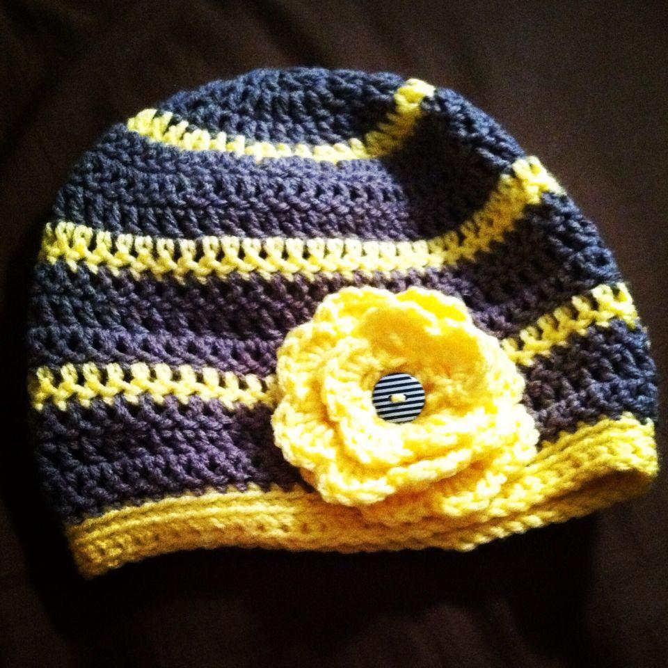 Crochet hat with flower crochet crochet hats hats