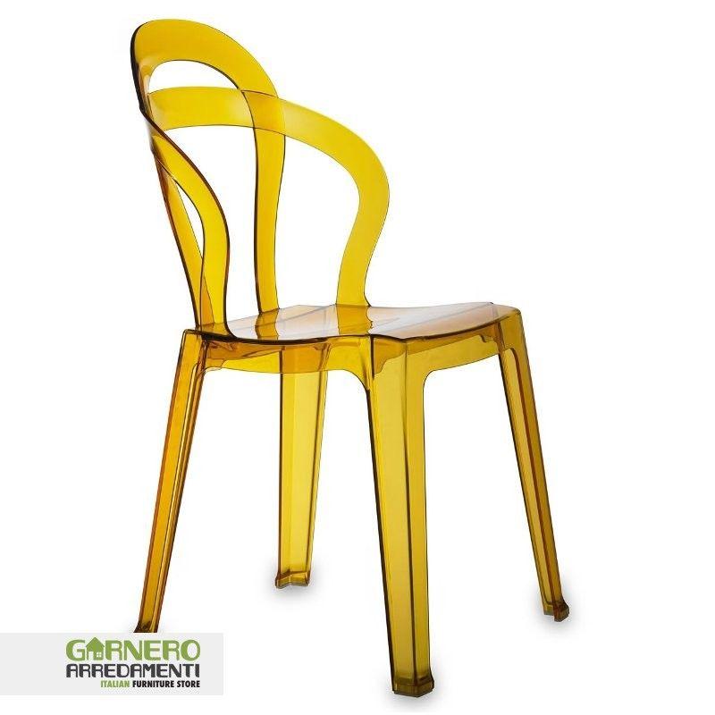 Sedia trasparente Titì policarbonato ideale per bar. Sedie eleganti ...
