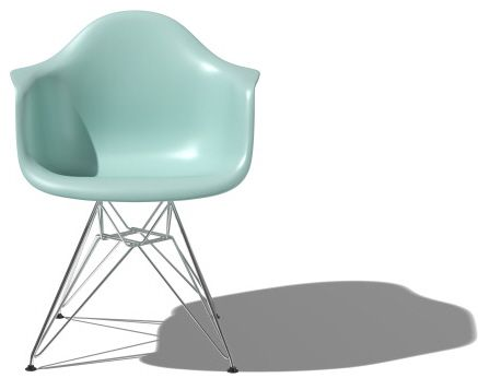 Eames Molded Plastic Chair with Metal Base 1948 by Charles and