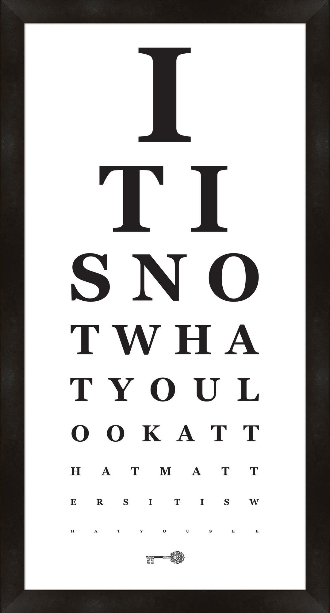 Eye chart framed textual art in black and white creativity at its eye chart framed textual art in black and white geenschuldenfo Gallery