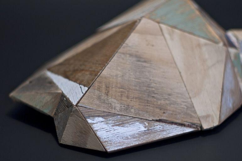 "Saatchi Online Artist: Lee Basford; Wood, 2011, Sculpture ""Untitled #2"""