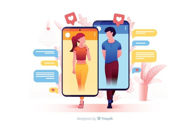 Download Dating Application Concept Illustrated for free