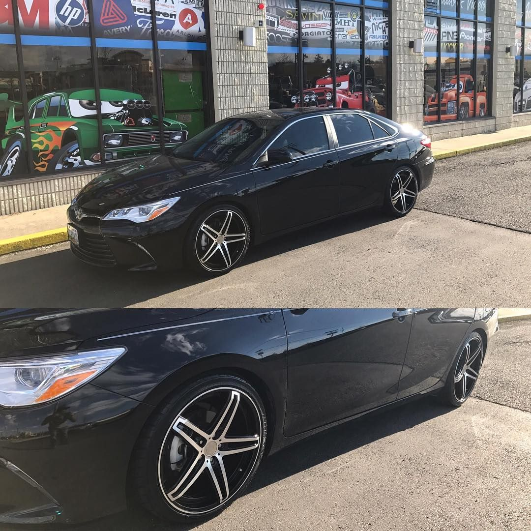 New Camry tinted windows, lowered, and put on 20