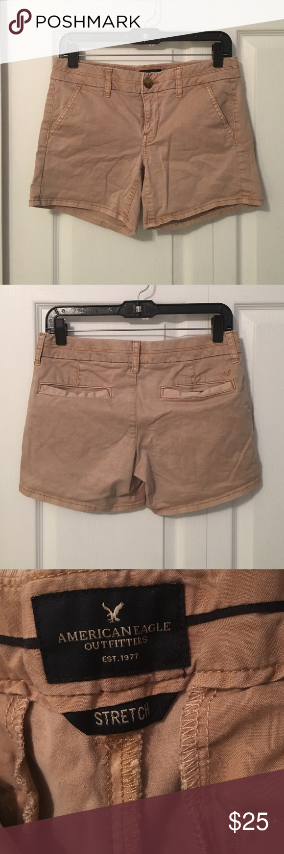 Tan AE Midi Shorts In excellent condition! No tears or stains! Price is firm! American Eagle Outfitters Shorts