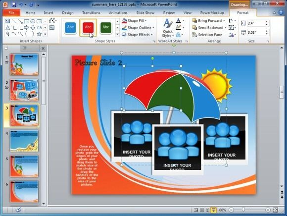 Animated Summer Template For Powerpoint Customizable Template